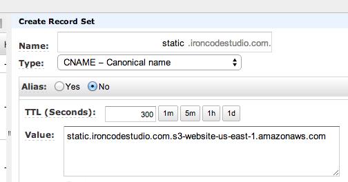 Custom Url S3 Bucket DNS