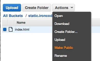 Make S3 File Public