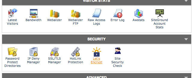 Siteground Lets Encrypt in cPanel