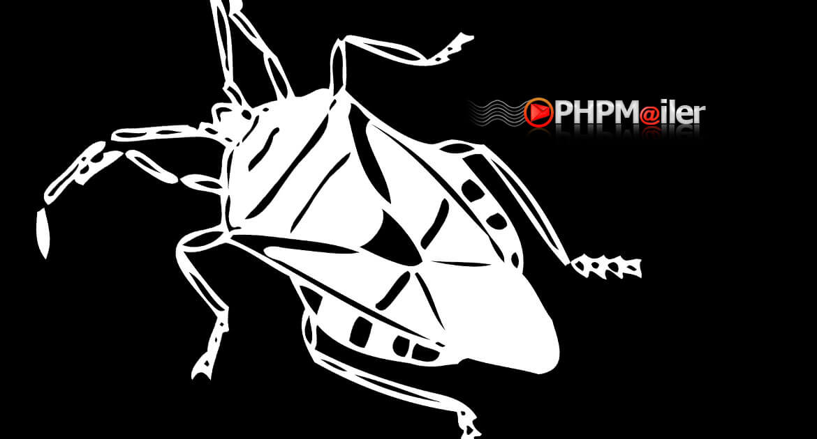 PHPMailer Logo with Bug