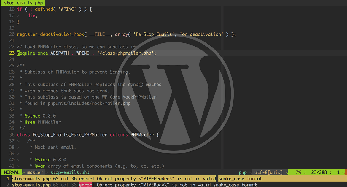 Text Editor Picture with WordPress Logo
