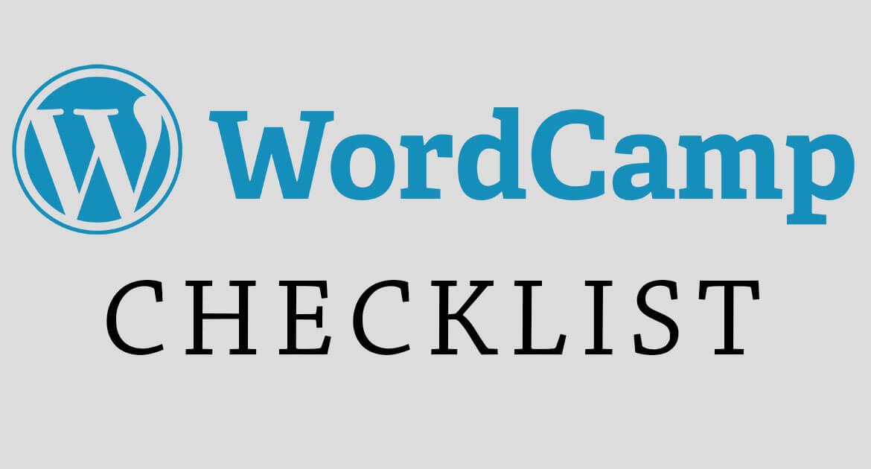 WordCamp Checklist