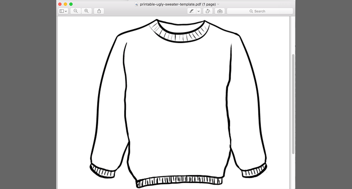 Printable Ugly Sweater Template PDF