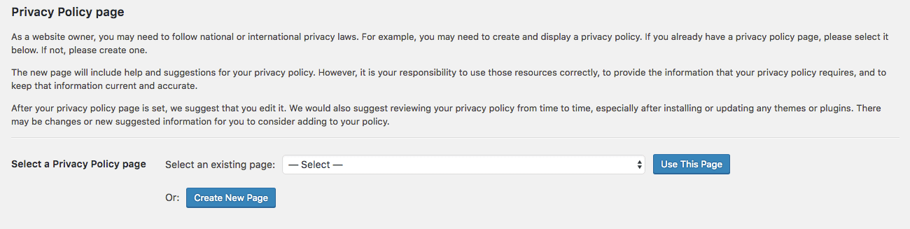 WordPress Code To Get The Privacy Policy URL