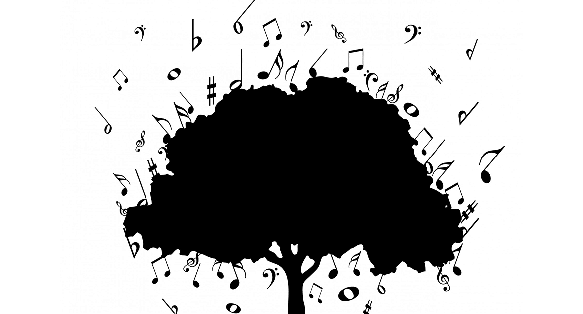 Tree with Music Symbols.